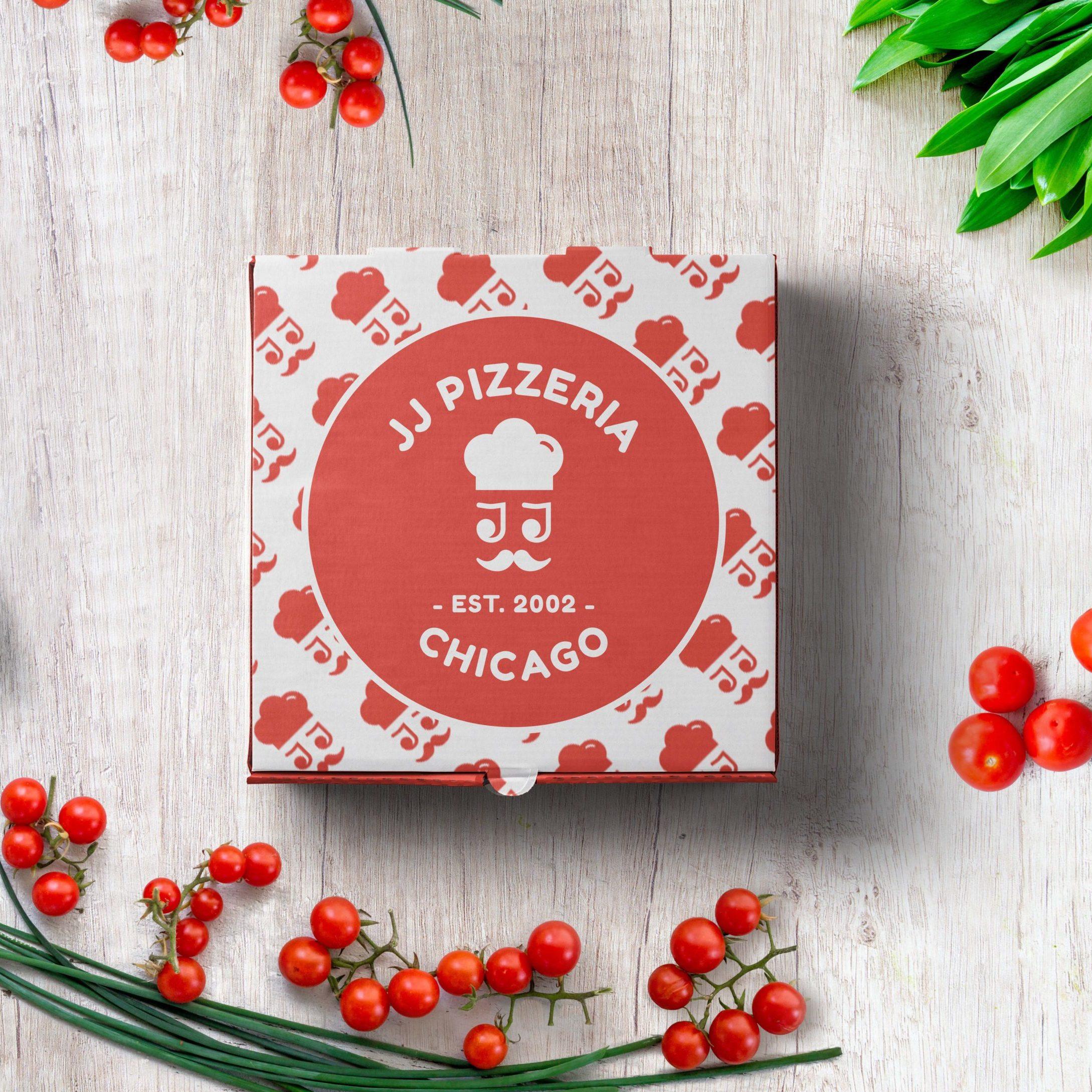 JJ-Pizzeria-Logo-Pizzaverpackung-Logo-Muster
