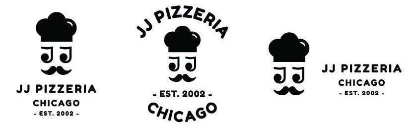 JJ-Pizzeria-Logo-Variationen-schwarze-Farbe
