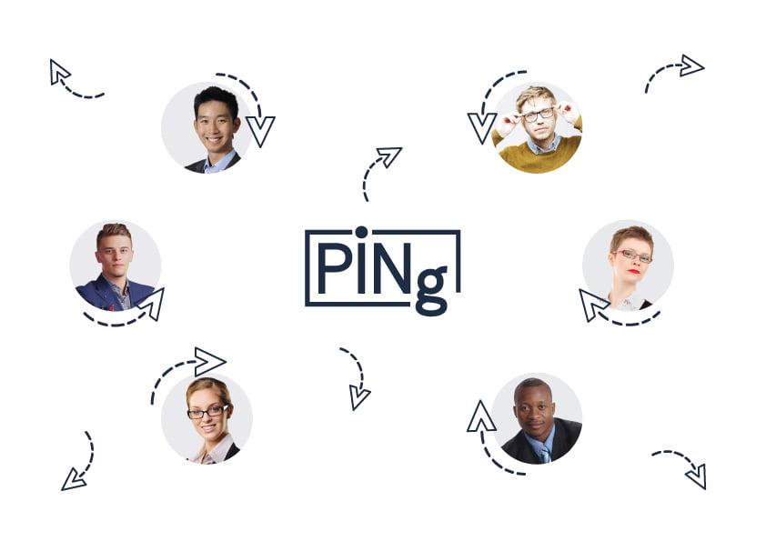 Ping-App-Menschen-Verbindung