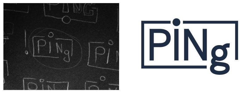 Ping-Logo-Skizze