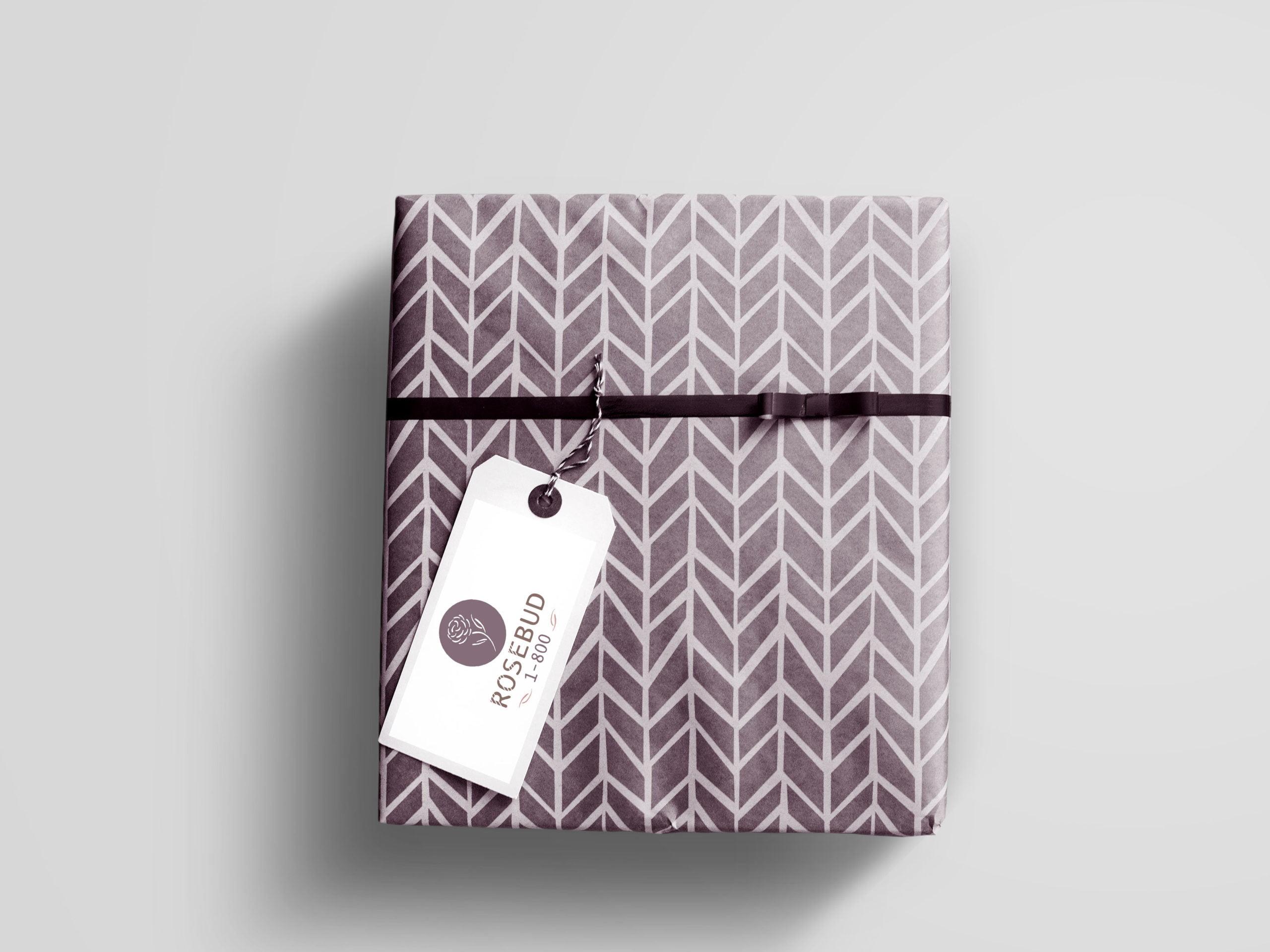 Rosebud-Logo-Geschenkverpackung