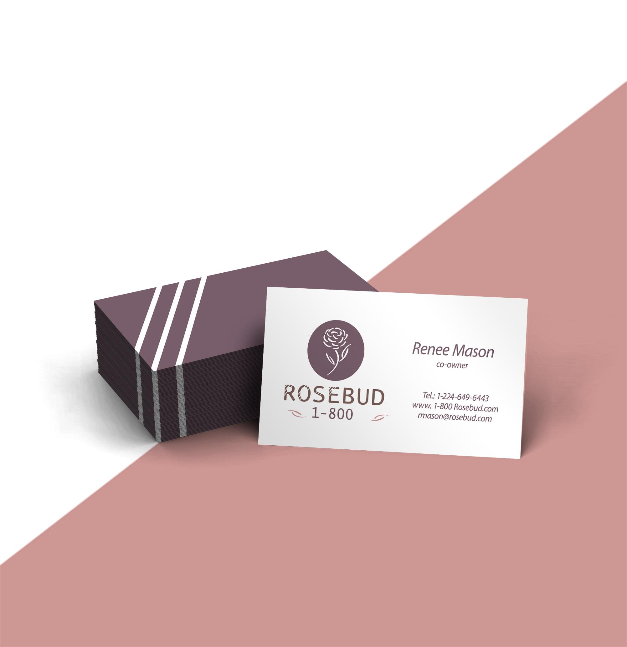 Rosebud-Visitenkarten