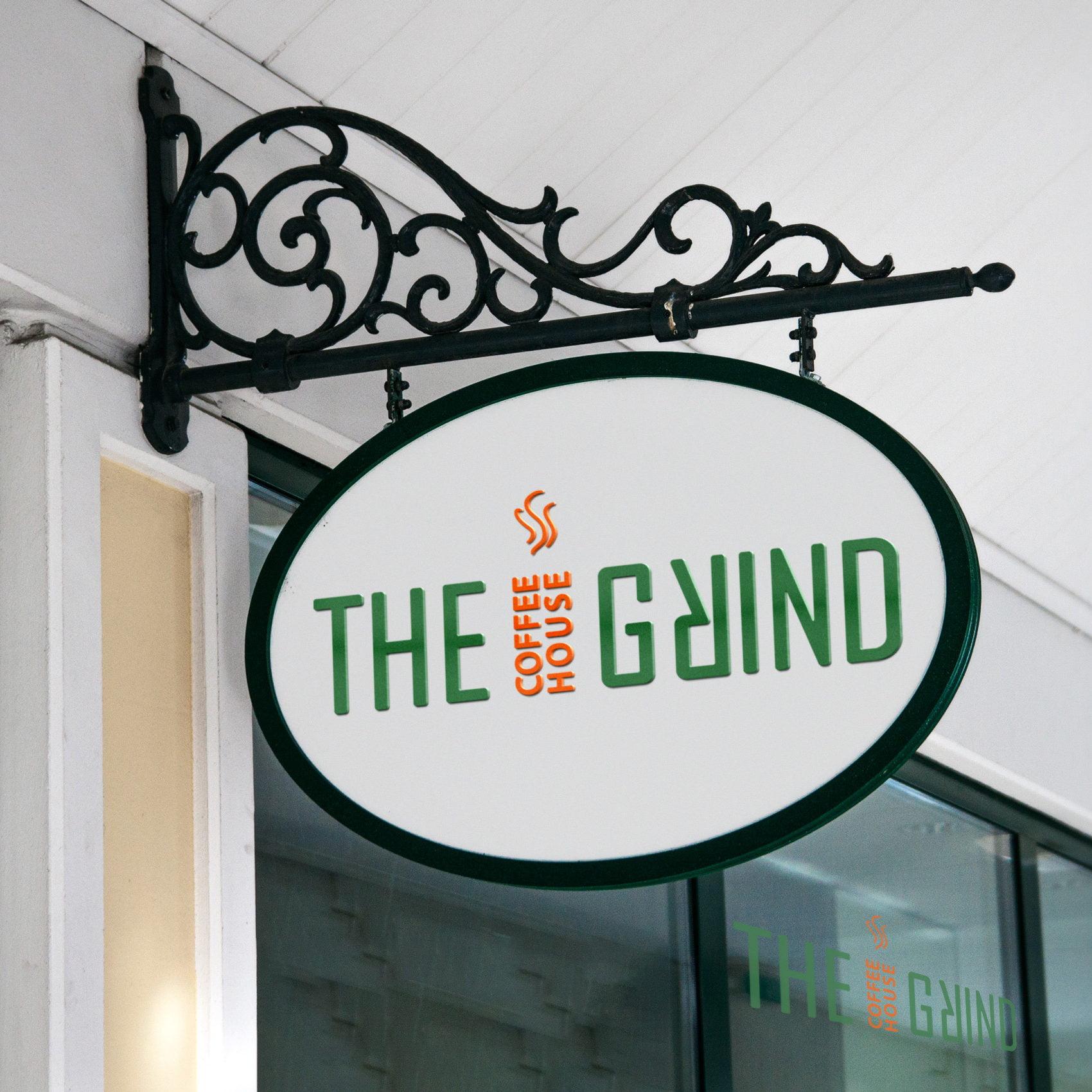 The-Grind-Logo-Geschäftsschild